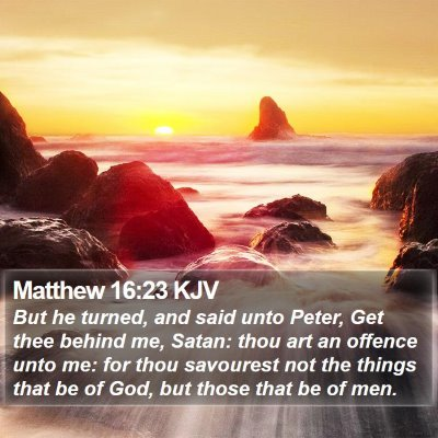 Matthew 16:23 KJV Bible Verse Image
