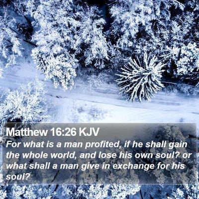 Matthew 16:26 KJV Bible Verse Image