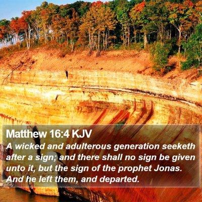 Matthew 16:4 KJV Bible Verse Image