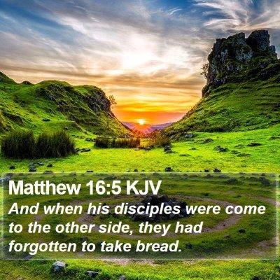 Matthew 16:5 KJV Bible Verse Image