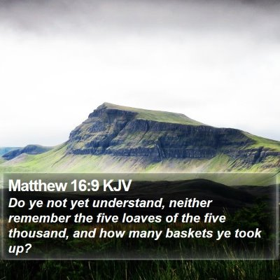Matthew 16:9 KJV Bible Verse Image