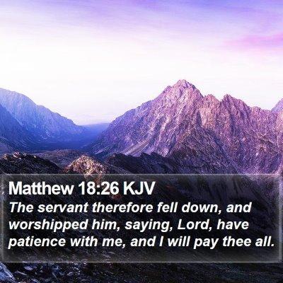 Matthew 18:26 KJV Bible Verse Image
