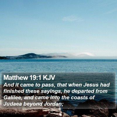 Matthew 19:1 KJV Bible Verse Image