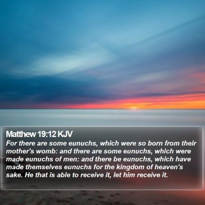 Matthew 19:12 KJV Bible Verse Image