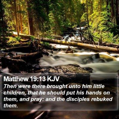 Matthew 19:13 KJV Bible Verse Image