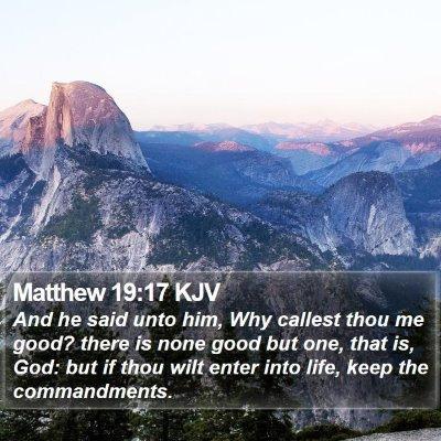 Matthew 19:17 KJV Bible Verse Image
