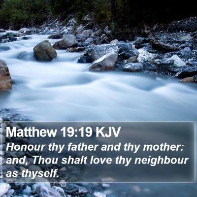 Matthew 19:19 KJV Bible Verse Image