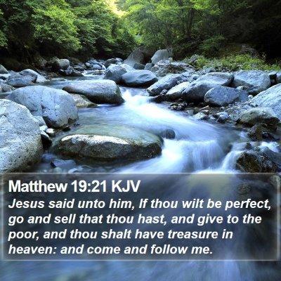 Matthew 19:21 KJV Bible Verse Image