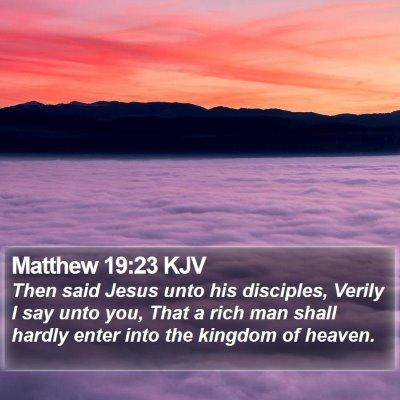Matthew 19:23 KJV Bible Verse Image