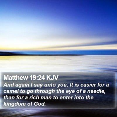 Matthew 19:24 KJV Bible Verse Image