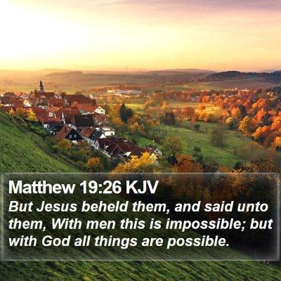 Matthew 19:26 KJV Bible Verse Image