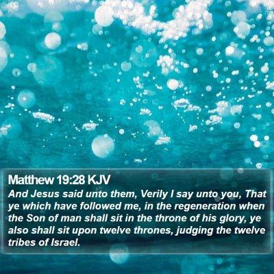Matthew 19:28 KJV Bible Verse Image