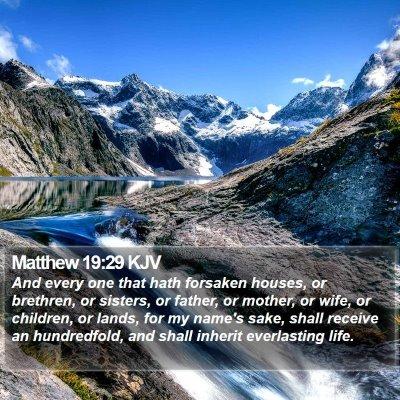 Matthew 19:29 KJV Bible Verse Image
