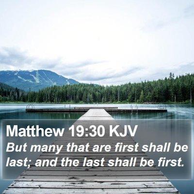 Matthew 19:30 KJV Bible Verse Image