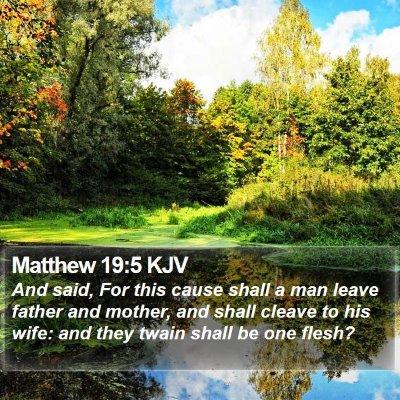 Matthew 19:5 KJV Bible Verse Image