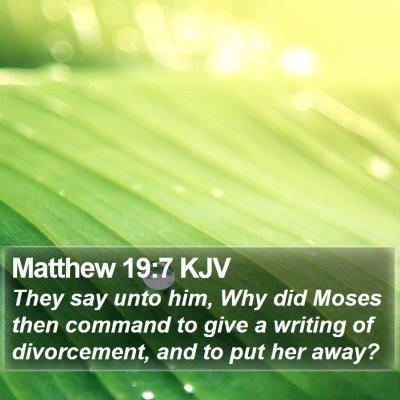 Matthew 19:7 KJV Bible Verse Image