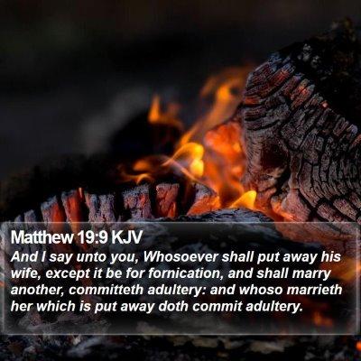 Matthew 19:9 KJV Bible Verse Image