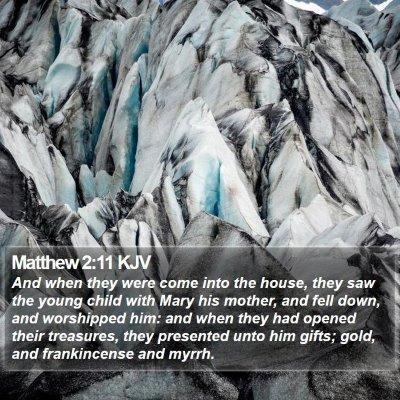 Matthew 2:11 KJV Bible Verse Image