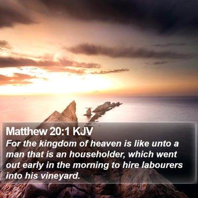 Matthew 20:1 KJV Bible Verse Image
