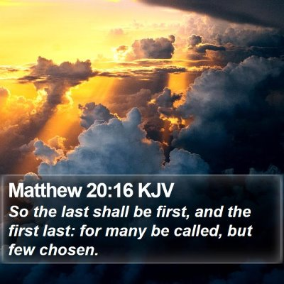Matthew 20:16 KJV Bible Verse Image