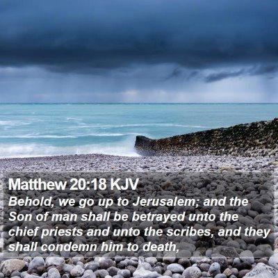 Matthew 20:18 KJV Bible Verse Image