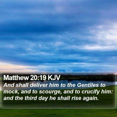 Matthew 20:19 KJV Bible Verse Image