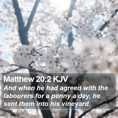 Matthew 20:2 KJV Bible Verse Image