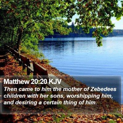 Matthew 20:20 KJV Bible Verse Image