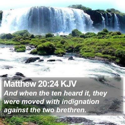 Matthew 20:24 KJV Bible Verse Image
