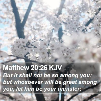 Matthew 20:26 KJV Bible Verse Image
