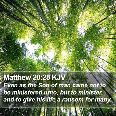 Matthew 20:28 KJV Bible Verse Image