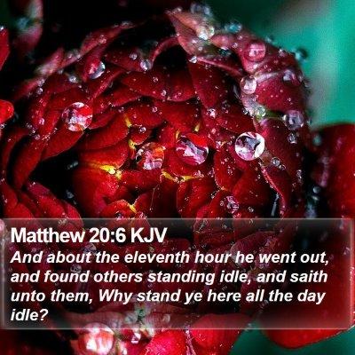 Matthew 20:6 KJV Bible Verse Image
