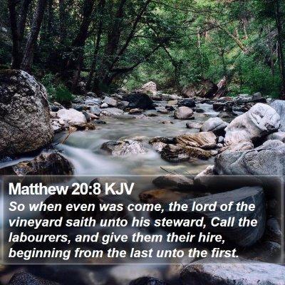 Matthew 20:8 KJV Bible Verse Image