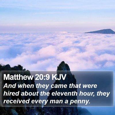 Matthew 20:9 KJV Bible Verse Image
