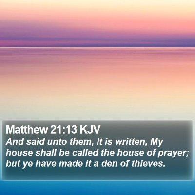 Matthew 21:13 KJV Bible Verse Image