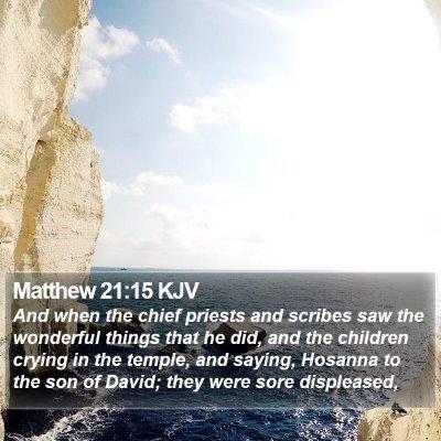 Matthew 21:15 KJV Bible Verse Image