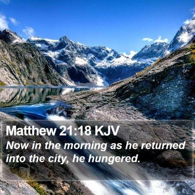 Matthew 21:18 KJV Bible Verse Image