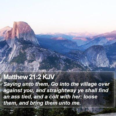 Matthew 21:2 KJV Bible Verse Image