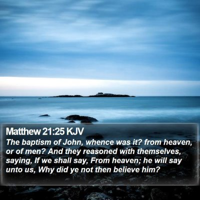 Matthew 21:25 KJV Bible Verse Image