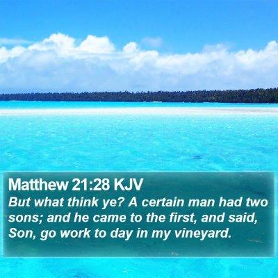Matthew 21:28 KJV Bible Verse Image