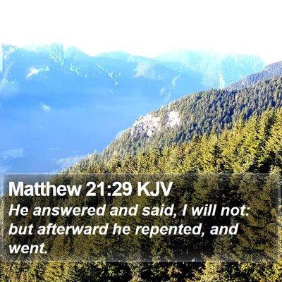 Matthew 21:29 KJV Bible Verse Image