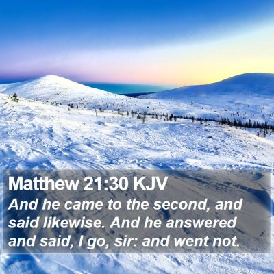 Matthew 21:30 KJV Bible Verse Image