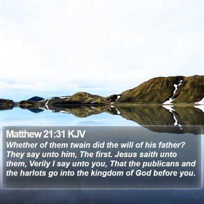 Matthew 21:31 KJV Bible Verse Image
