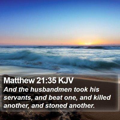 Matthew 21:35 KJV Bible Verse Image