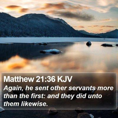 Matthew 21:36 KJV Bible Verse Image