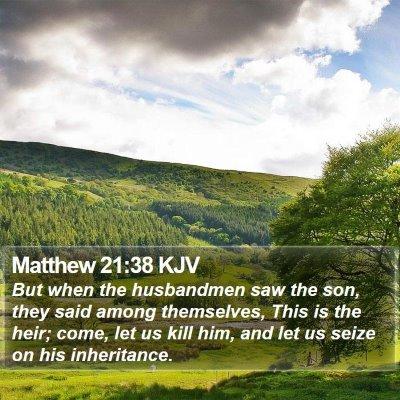 Matthew 21:38 KJV Bible Verse Image