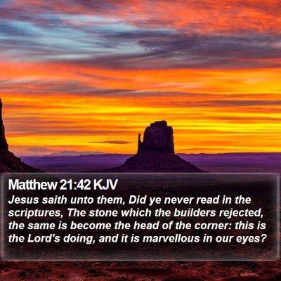 Matthew 21:42 KJV Bible Verse Image