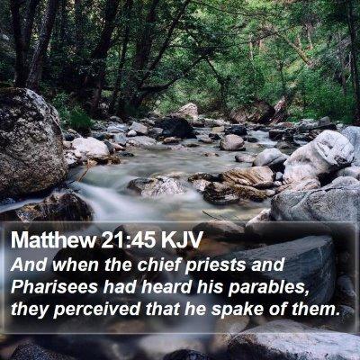 Matthew 21:45 KJV Bible Verse Image
