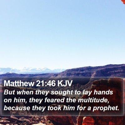 Matthew 21:46 KJV Bible Verse Image