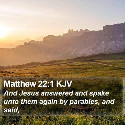 Matthew 22:1 KJV Bible Verse Image